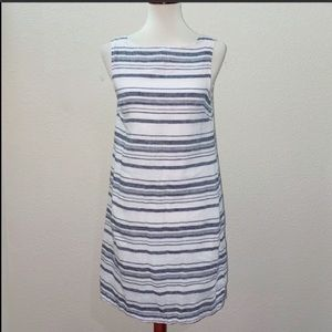 BeachLunchLounge Striped Linen Dress Size Small